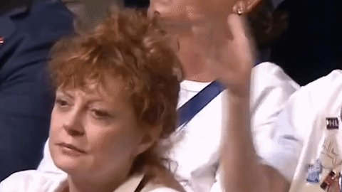 Susan Sarandon is having literally the worst time at the #DemConvention