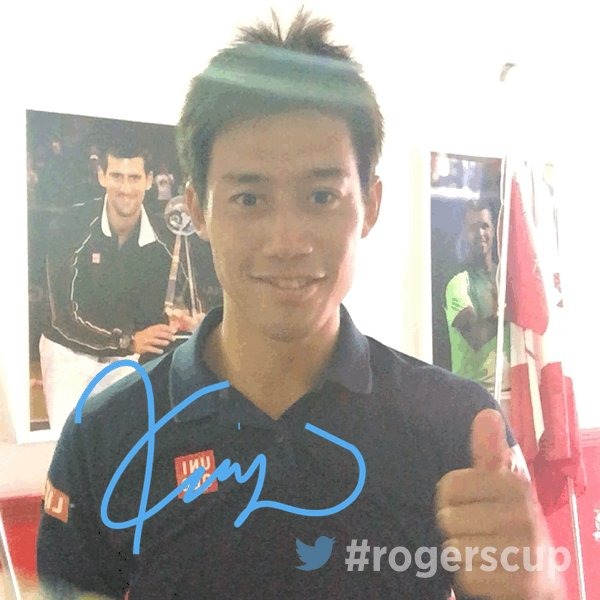 Welcome to the #RogersCup final @keinishikori!!!