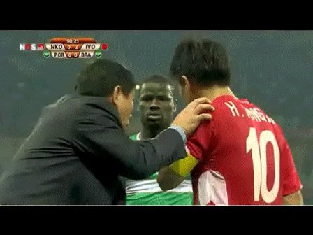 Remember when Emanuel Eboue listening to North Korea's tactics? https://t.co/h07NgZyevZ