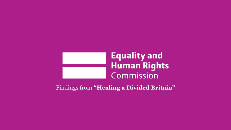 Our new report Healing a Divided Britain calls for urgent action to tackle race inequality: https://t.co/S6koRc7Qef https://t.co/b2KZE0DlfW