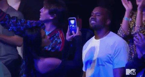 The satisfaction on @KimKardashian's face is too good. #VMAs https://t.co/MaF0RKOGjk