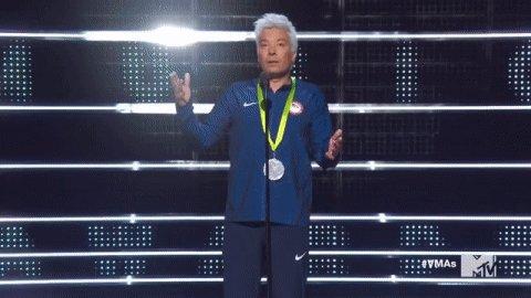 .@JimmyFallon (as Ryan Lochte) announces the #VMAs winner for Video of the Year https://t.co/P3hkhhoKsk https://t.co/9p6RrWQ0rN