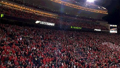 Oregon has no idea what they are about to walk into. The Sea of Red is one nasty place! #GBR https://t.co/V9stIuolfr
