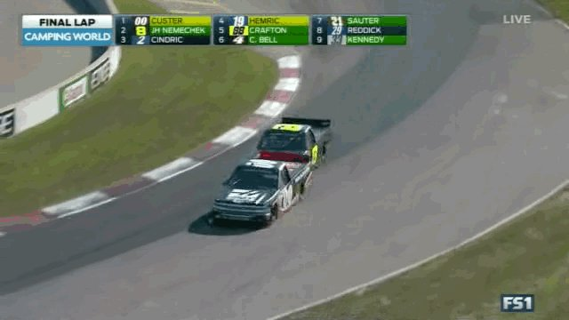 Here's how John Hunter Nemechek won the Truck race. https://t.co/UCrJ3vj9Bt