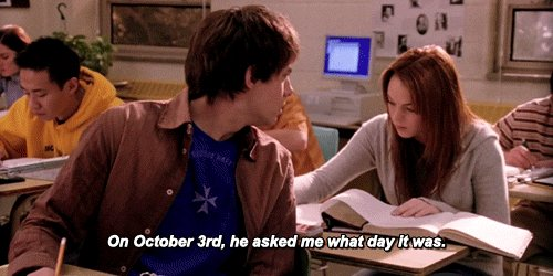 it's October 3rd