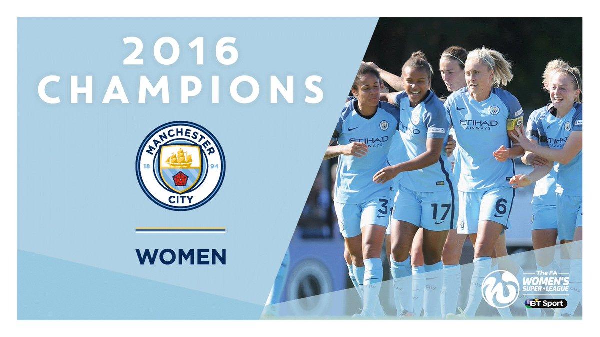 Congratulations to @ManCityWomen, the new @FAWSL 1 champions!