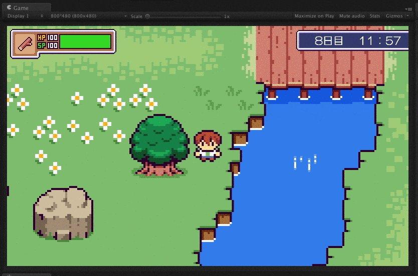【ピコンティア - Picontier】 Sunlight test #unity #unity2d #madewithunity #ドット絵 #pixelart #indiedev #indiegame #gamedev https://t.co/FCQsYUWNDe
