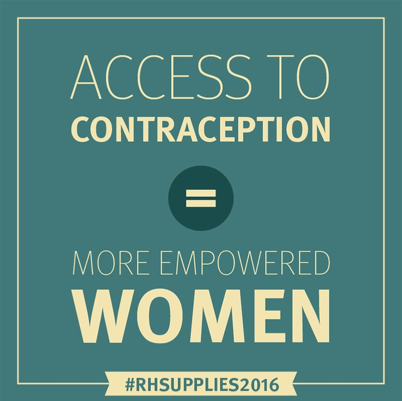 It all starts with access to contraception. #RHSupplies2016 https://t.co/qAi477IRG2