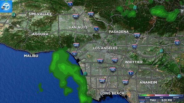 Heavier showers are anticipated overnight; track the rain with our LIVE Megadoppler