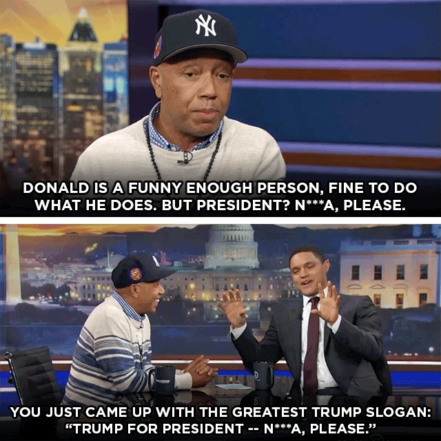RT @TheDailyShow: .@UncleRUSH, longtime friend of Donald Trump, shares his thoughts on the Republican candidate. https://t.co/XNeUpTHV1m