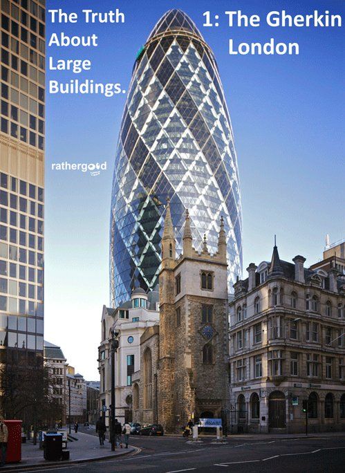 The Truth About Large Buildings. 1: The Gherkin, London https://t.co/wEF36qrrdb
