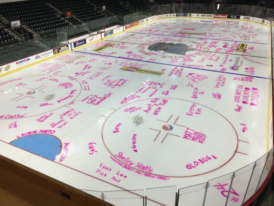 Wenatchee Wild fans paint the ice pink, honor loved ones affected by cancer -
