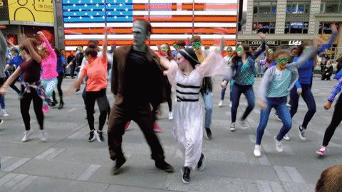 Munsters flash mob takes over Times Square