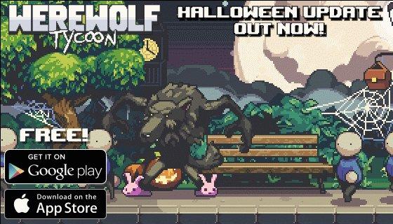 joe williamson on twitter werewolf tycoon huge halloween update released gamedev pixelart