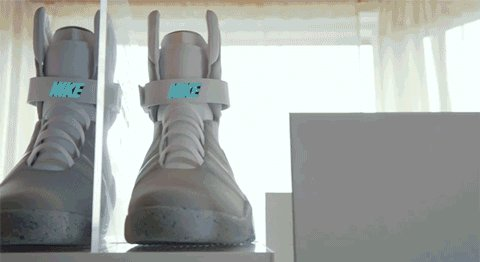 Watch this guy treat his Back to the Future Nike Mags like a newborn baby