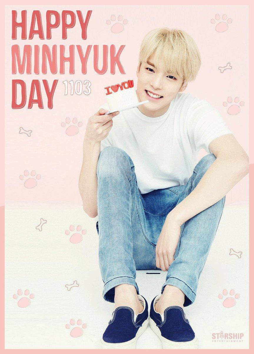 20161103 HAPPY BIRTHDAY  Congrats #MINHYUK 's BIRTHDAY!