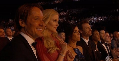 Anyone else catch Nicole Kidman dancing along?! #CMAawards50 @CountryMusic https://t.co/uxstISt4Bp