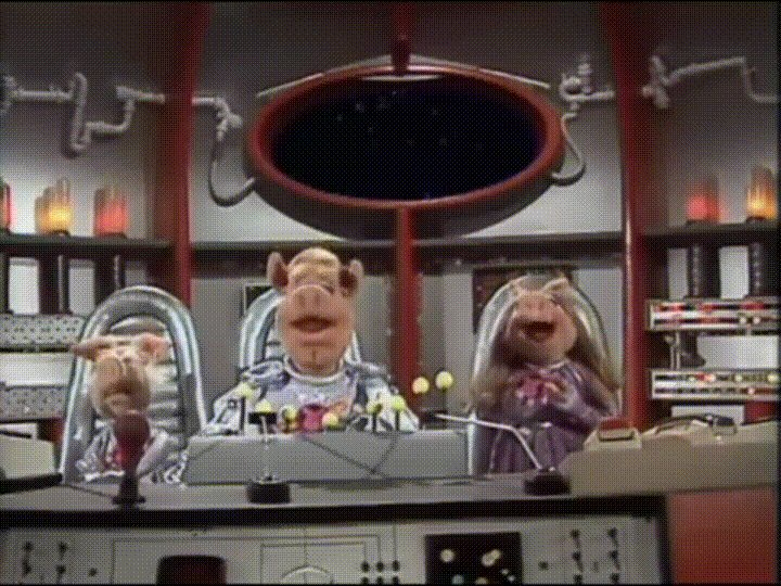 #OTD  1977 @TheMuppets  aired the 1st #PigsInSpace  segment - featuring the one & only @MissPiggy  (queue eerie space music...)