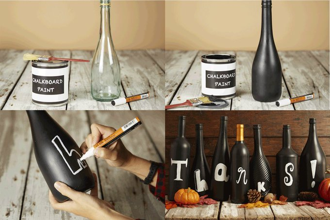 Get crafty with this easy DIY project made from empty glass bottles.