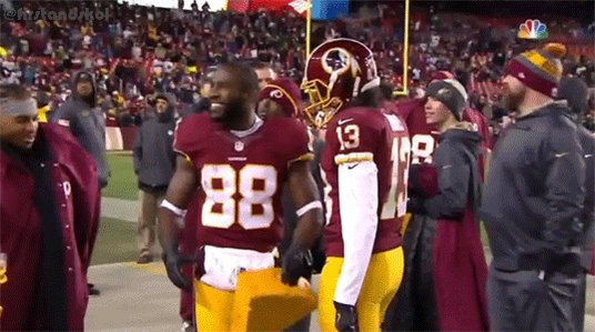 Pierre Garcon ripped a cheesehead in 2 pieces after Washington beat the Packers