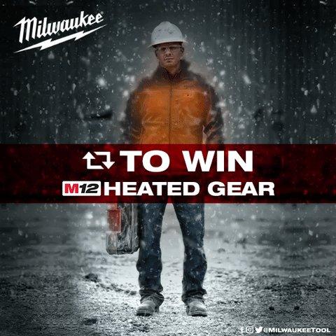 1. Follow @MilwaukeeTool 2. RT this Tweet  3. Win M12™ Heated Gear https://t.co/rglxtLMVgz https://t.co/7VpEN5dLYx