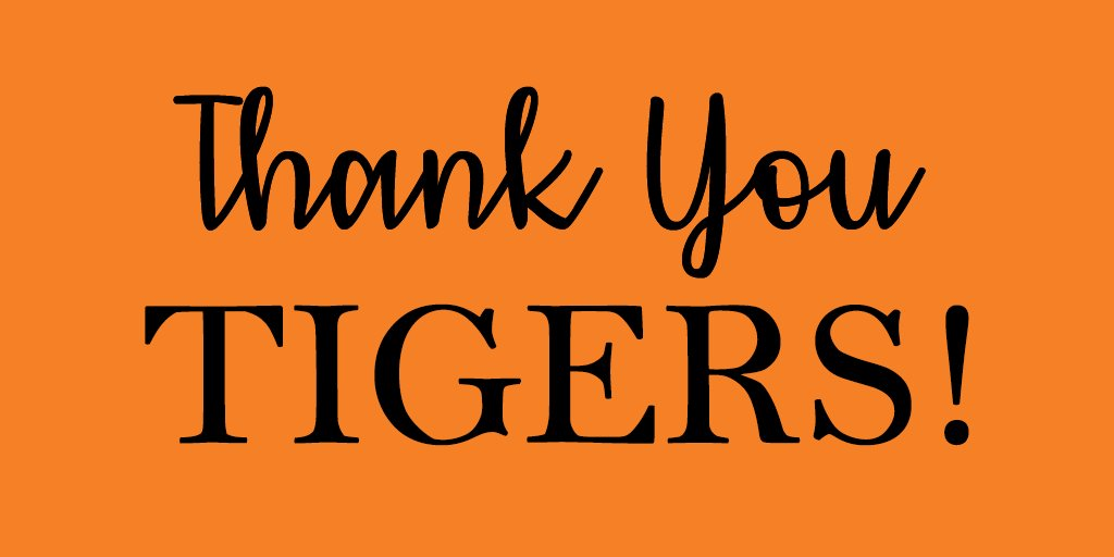 Image for the Tweet beginning: THANK YOU TIGERS!   #PrincetonU's Annual