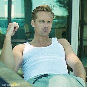 With all due respect to Adam Scott, I'm still allowed to think Alexander Skarsgård is hot, right? #BigLittleLies
