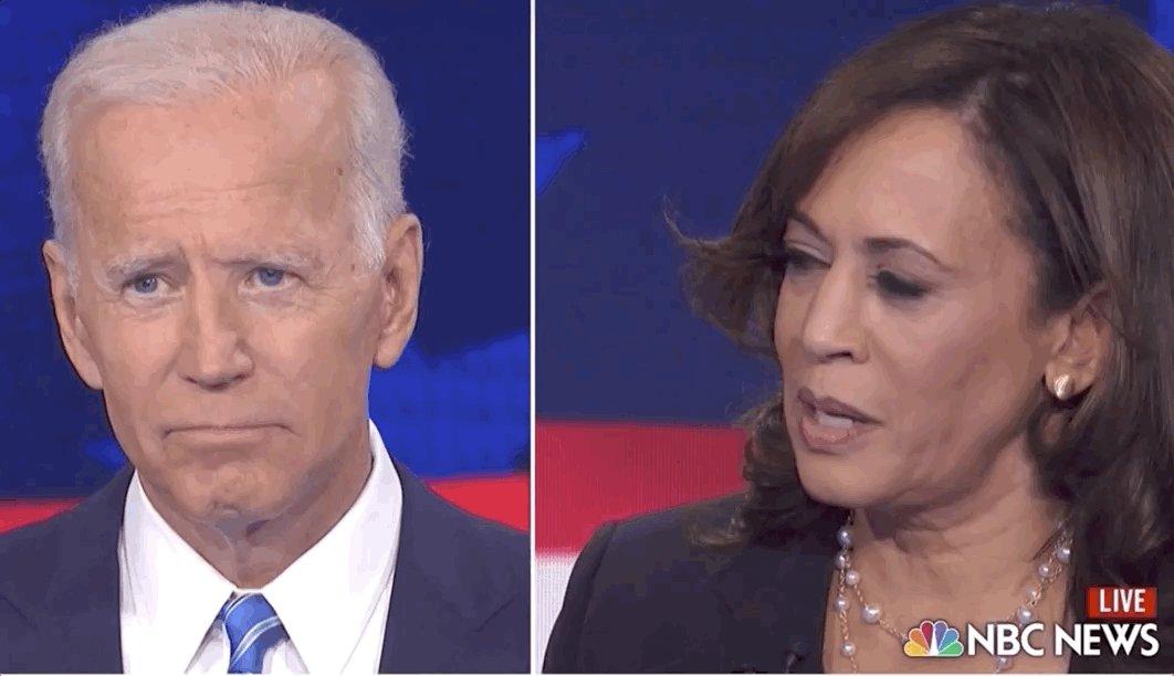 AH SHEEET. Joe Biden's out here looking like he got put on time out by Kamala Harris. #DemDebate2