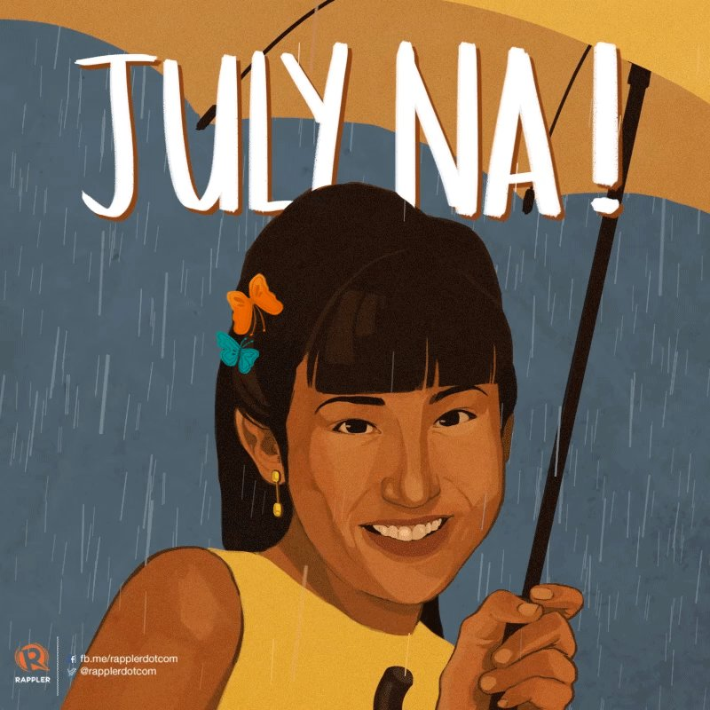 """As the rains begin pouring, always remember the immortal words of the one and only Jolina:  """"Oh yes, kaibigan mo ako. Kaibigan mo lang ako… And I'm so stupid to make the biggest mistake of falling in love with my best friend.""""  Slay the month like Jolina Magdangal! 😉"""