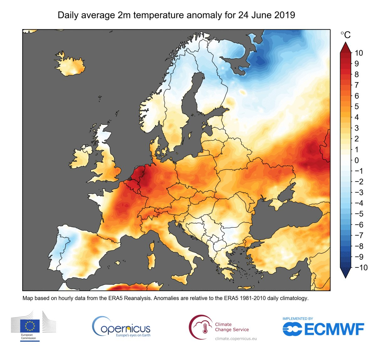 Last month 'hottest June on record' as heatwave swept Europe