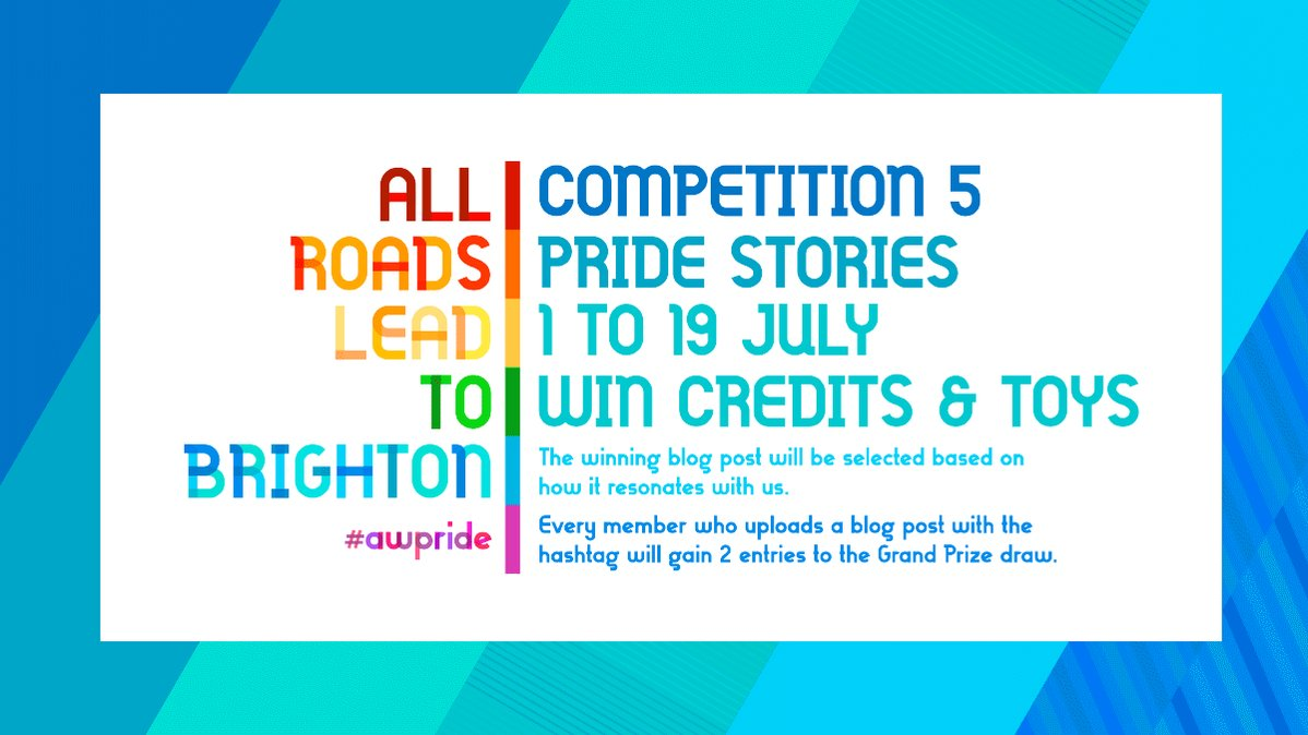 PRIDE STORIES COMPETITION✍  Take part in our 5th #PrideMonth competition Share your Pride stories with us on your #AdultWorkcom blog The Winner will receive: 🌈250 #AdultWork credits 🌈@Doxy 🌈AW goodies   More details: http://bit.ly/PrideComps
