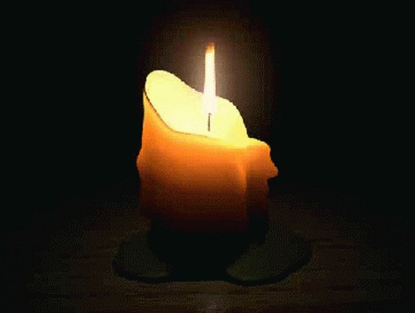 Гифка свеча скорби