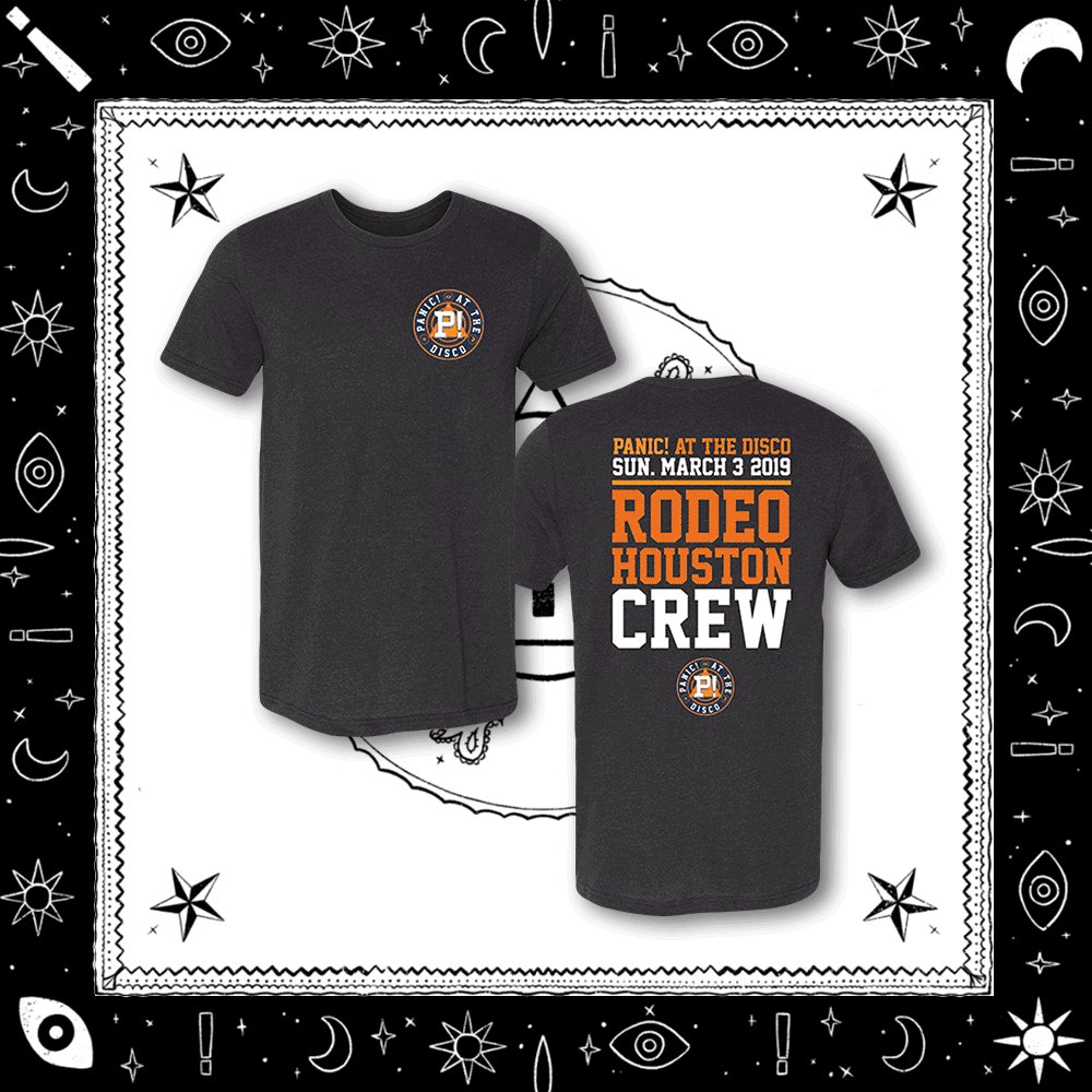Saddle up + get this @RODEOHOUSTON merch before it's gone tomorrow https://store.panicatthedisco.com