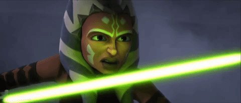 Stating the obvious but man is Ahsoka cool. 😩💚 drop dead excited for new #clonewars this year.