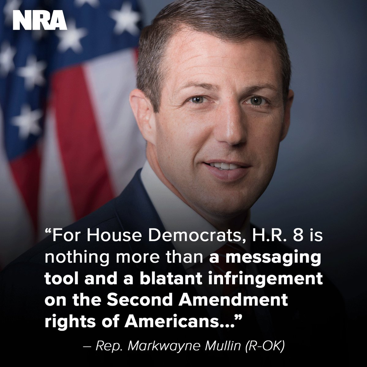 """Read this piece by @RepMullin that puts into perspective how much of a """"blatant infringement"""" H.R. 8 is on #2A. """"I will continue to be a defender of all Americans' #2A rights and speak out in opposition to this misguided legislation,"""" said @RepMullin. → http://bit.ly/Mullin2A"""