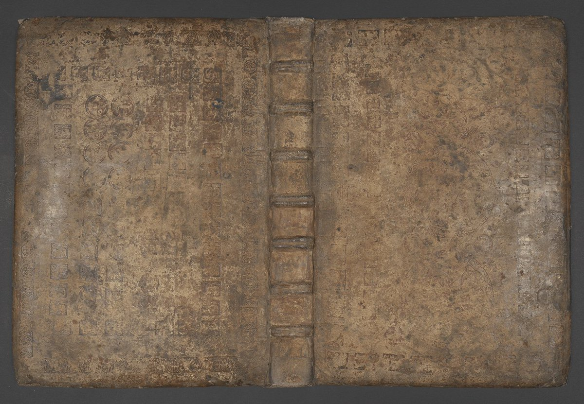 A #colourspace analysis follow-up to @For_the_Wynn's #BookCoverChallenge 12th-century #Romanesque pink-dyed leather over wooden covers, blind-tooled, with geometric, #zoomorphic and foliate Add MS 15350/1  … #PolonskyPre1200 #imaging #science #binding
