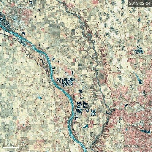 RT @CopernicusEU: #NebraskaFloods seen by #Sentinel2 🇪🇺🛰 https://t.co/880Oeigzm4