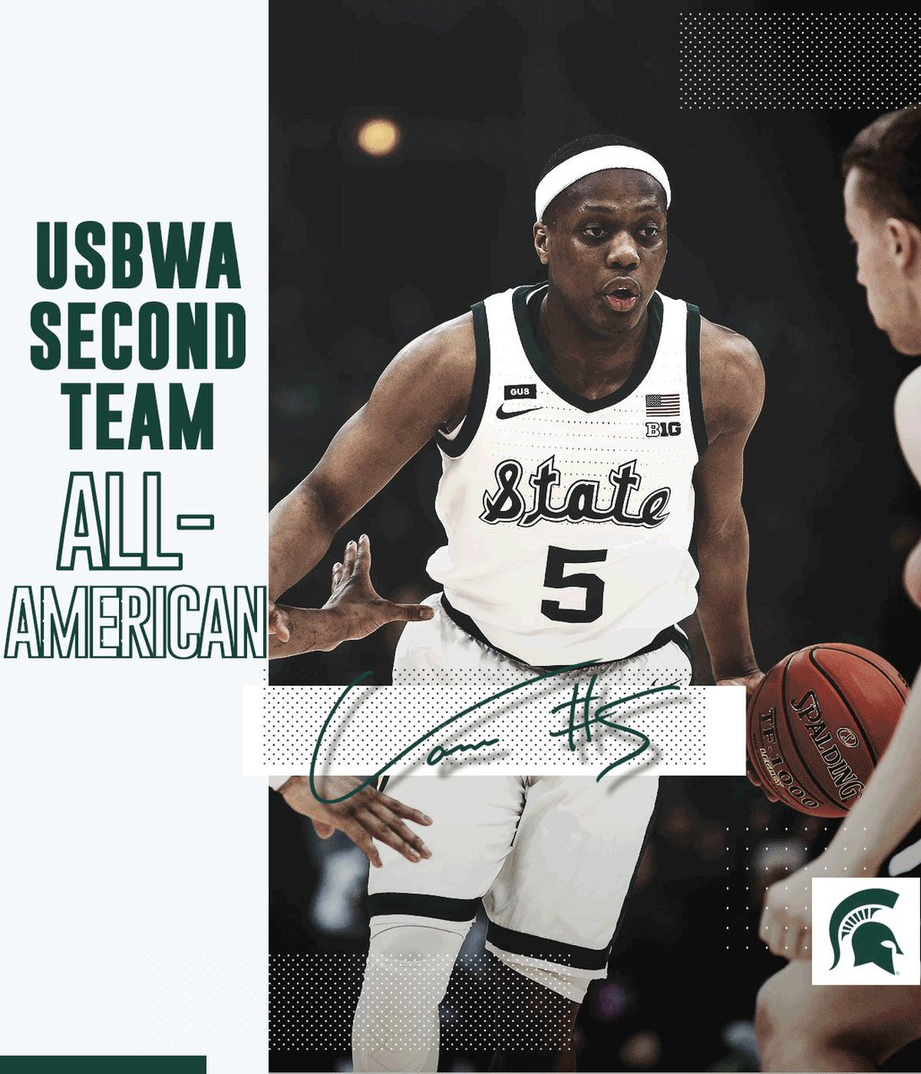 Another All-American honor for @cassiuswinston from @USBWA 🏅 #SpartanDawg