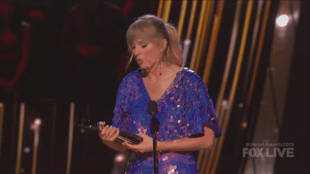 """""""I honestly owe everything, everything I have to (my fans). ... I love your passion, I love your attention to detail, I love how much you care."""" - Taylor Swift #iHeartAwards2019"""