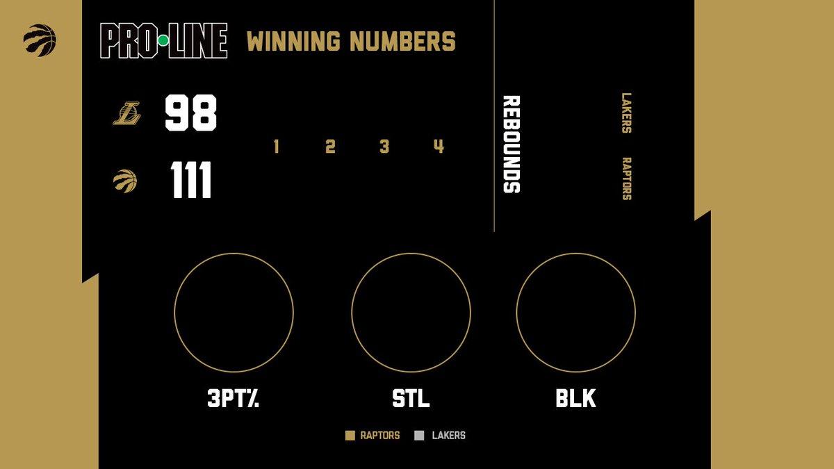Tonight's Winning Numbers presented by @OLGproline. #WeTheNorth
