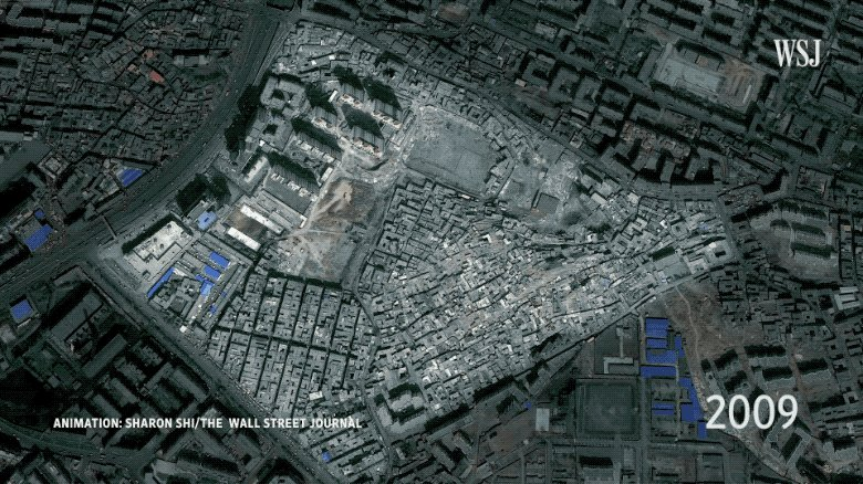 Our reporters returned to Urumqi a year after visiting to report on the mass surveillance and detention of Uighurs—and found a demolished neighborhood and only remnants of the culture that once thrived there. http://on.wsj.com/2U4lakQ