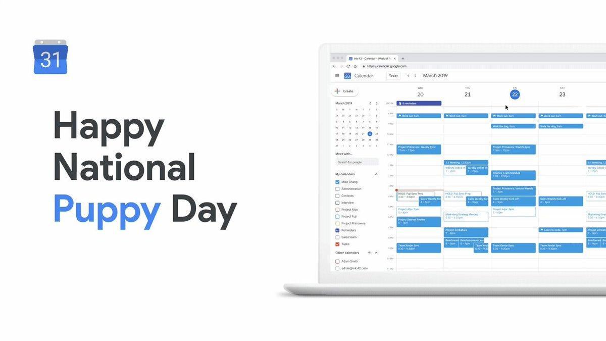 Image for the Tweet beginning: Ruff week? Celebrate #NationalPuppyDay today