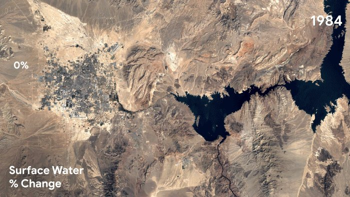 Image for the Tweet beginning: Lake Mead, the largest man-made