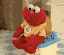 Amigos, para despedir esta mierda se noche, compartan con nosotros su GIF preferido de Elmo. Un abrazo, se despide @Almendiz.