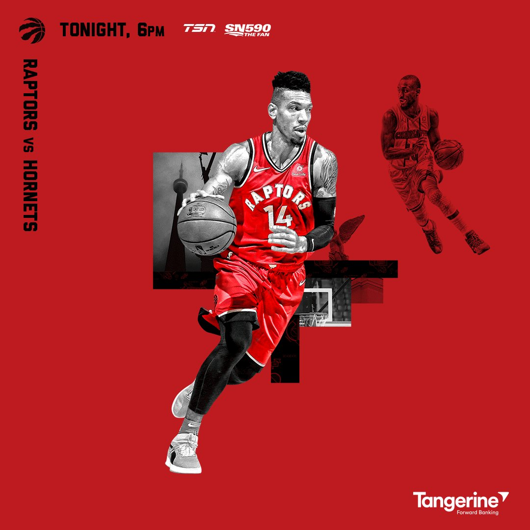 It's @TangerineHoops Raptors Game Day!   Homestand continues today vs the Hornets. #WeTheNorth  Preview » https://rpt.rs/2HMjGoG