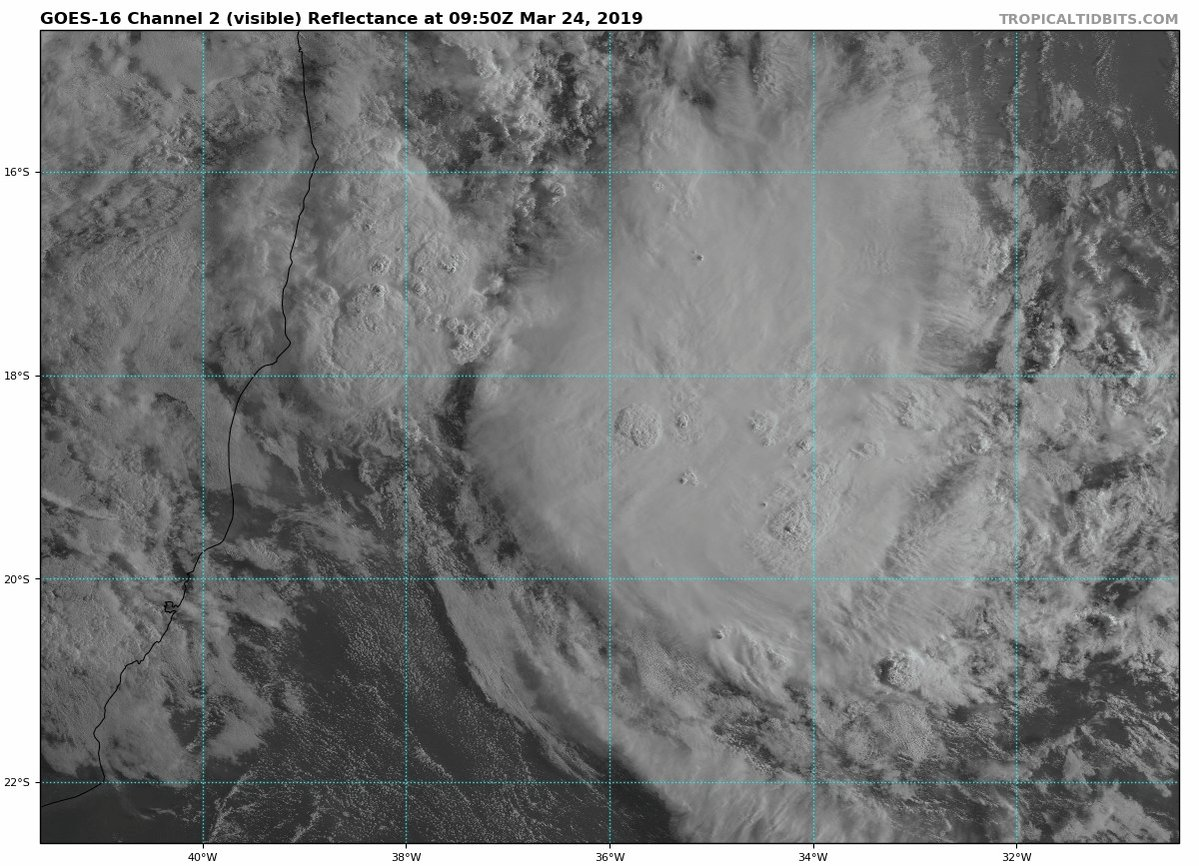 Image for the Tweet beginning: A rare tropical disturbance is
