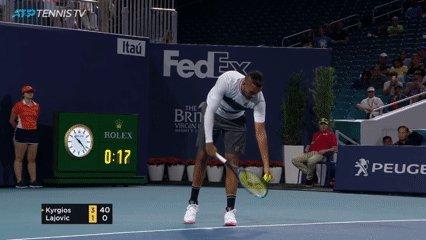 KYRGIOS /@NickKyrgios /(🎥@TennisTV ) #MiamiOpen