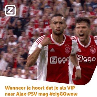 6 days to go! ➡️ #Ajax vs. PSV!   Win jij de VIP-kaarten van @ZiggoCompany of wordt jouw zoon/dochter mascotte? 😎  Doe mee! 💻 http://ziggo.nl/ziggoajax! ✍️
