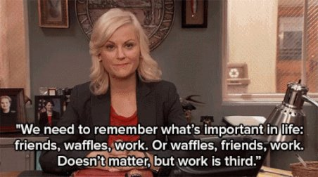 An important reminder from Leslie Knope on this particular Monday, which happens to be #InternationalWaffleDay... <a href='https://t.co/nRdhHl7xo5' class='extra' target='blank'><i class='material-icons mdl-color-text--grey-400'>image</i></a>