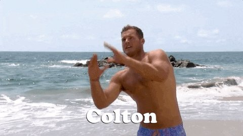 I don't even watch #TheBachelor ... but I love how all y'all asking @colton all these questions like you are going to get answers 😂😂😂😂😂  This dude is running plays...  RUNNING. THEM.